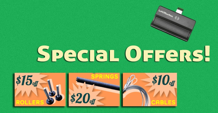 Banner image for special offers and coupons on garage door repair services