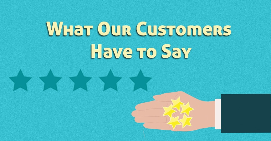 Banner image for reviews and what customers are saying